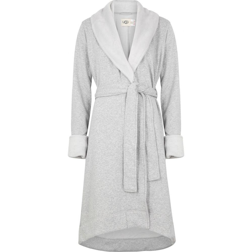 アグ UGG レディース ガウン・バスローブ インナー・下着【Duffield Ii Fleece-Lined Cotton Jersey Robe】Grey
