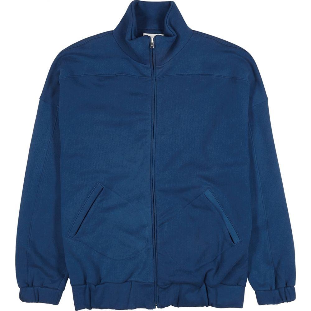 レス ティエン Les Tien メンズ ジャージ アウター【Dark Blue Cotton Track Jacket】Blue