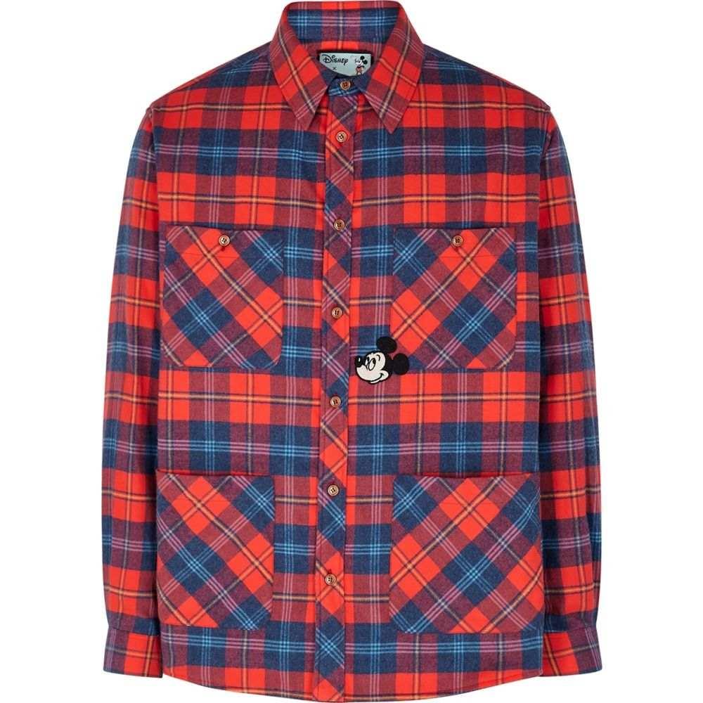 グッチ Gucci メンズ シャツ トップス【X Disney Checked Brushed-Cotton Shirt】Red