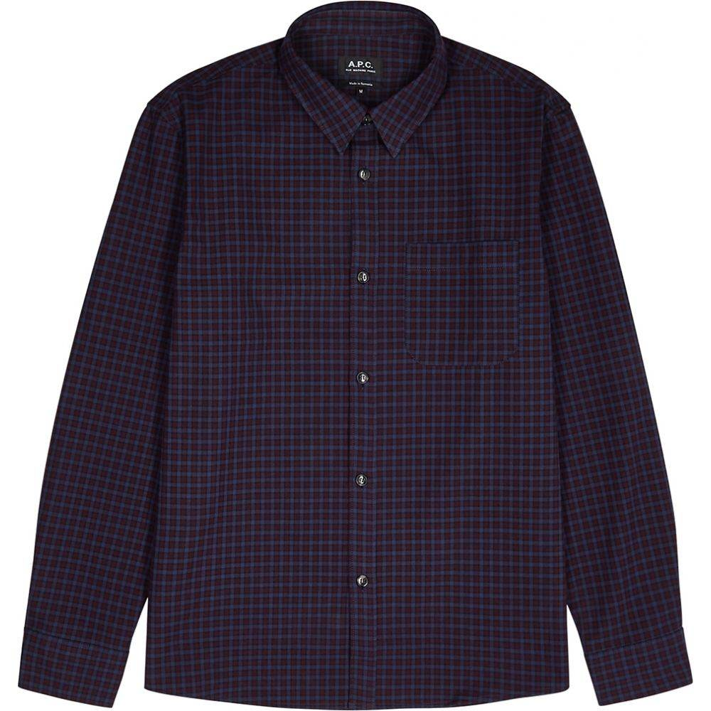 アーペーセー A.P.C. メンズ シャツ トップス【Checked Cotton Shirt】Blue