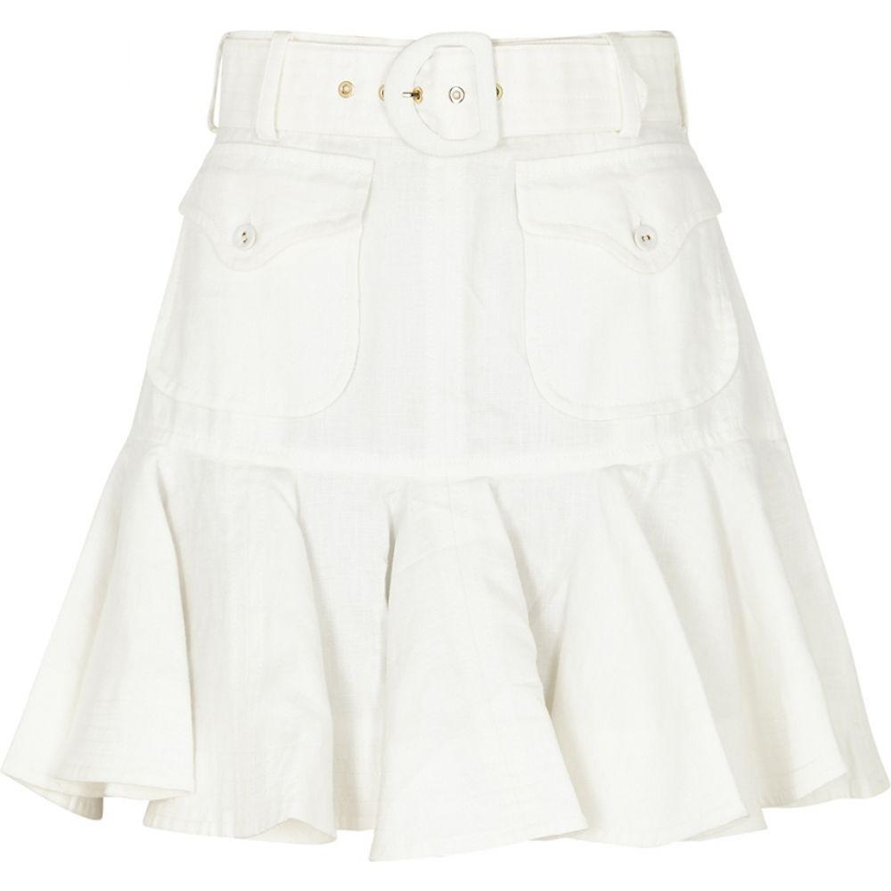 ジマーマン Zimmermann レディース ミニスカート スカート【Super Eight Safari Linen Mini Skirt】Natural