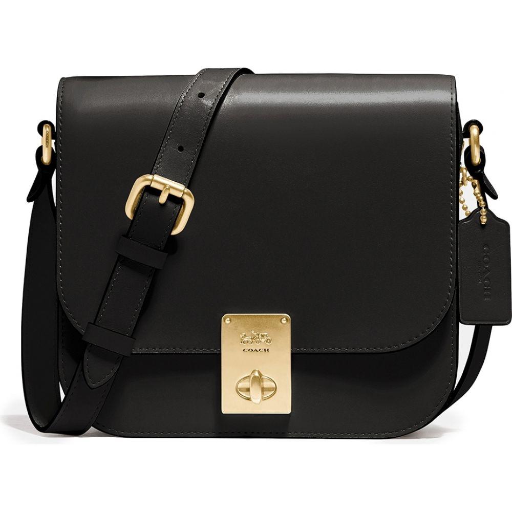 コーチ Coach レディース ショルダーバッグ バッグ【Hutton Black Leather Saddle Bag】Black