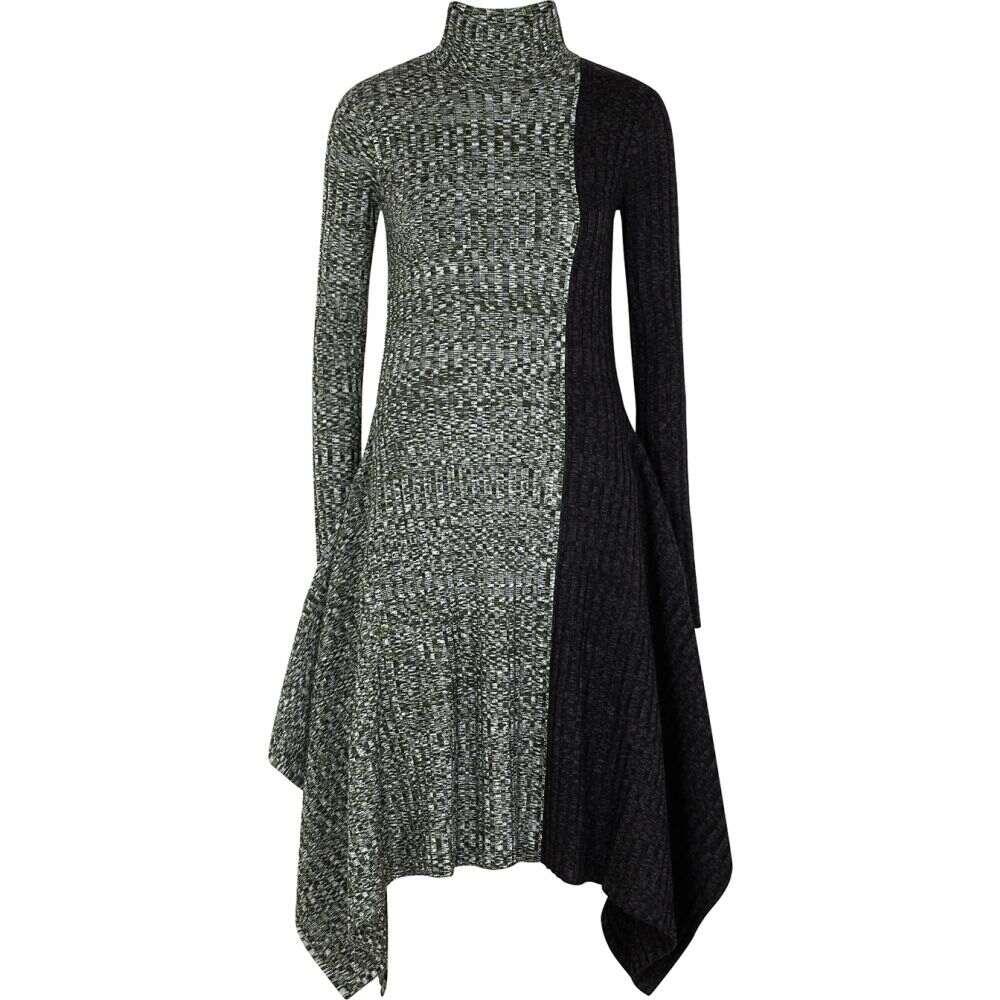 J.W.アンダーソン JW Anderson レディース ワンピース ワンピース・ドレス【Panelled Merino Wool Midi Dress】Green