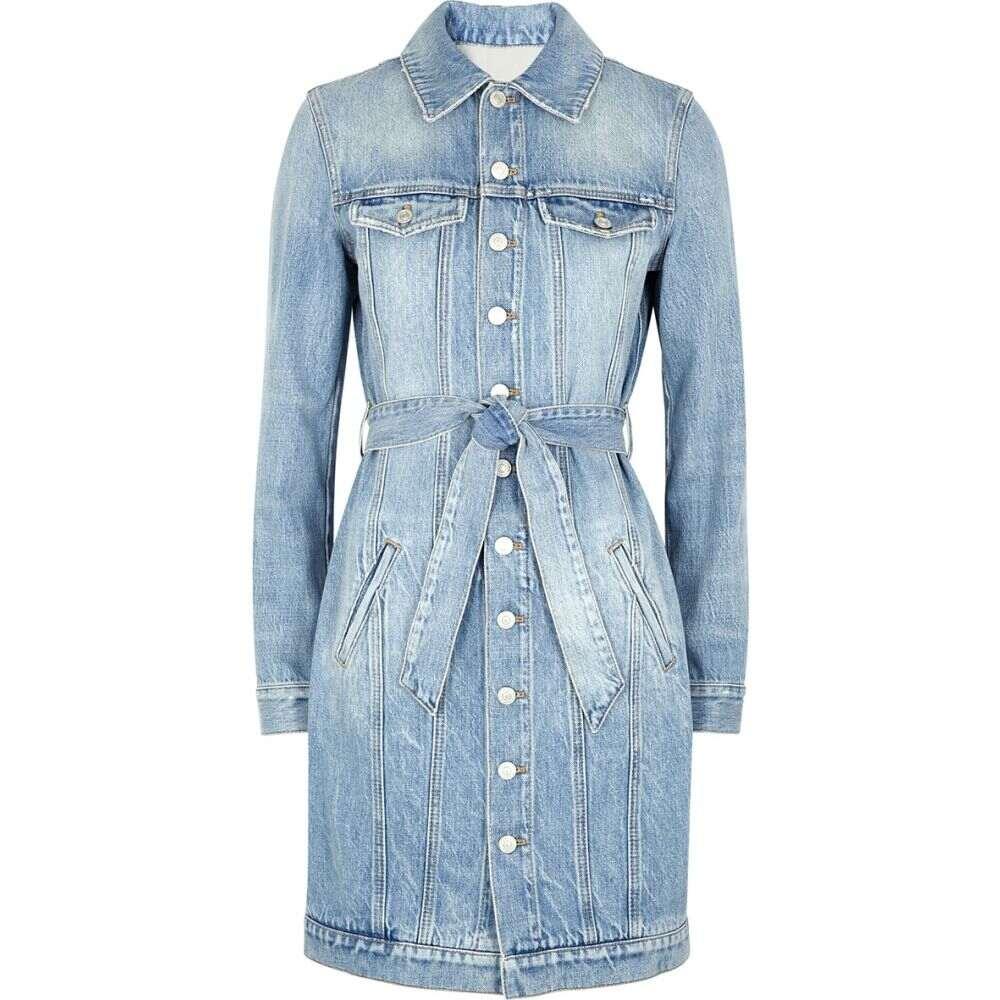 ジバンシー Givenchy レディース ワンピース デニム シャツワンピース ワンピース・ドレス【Blue Belted Denim Shirt Dress】Blue