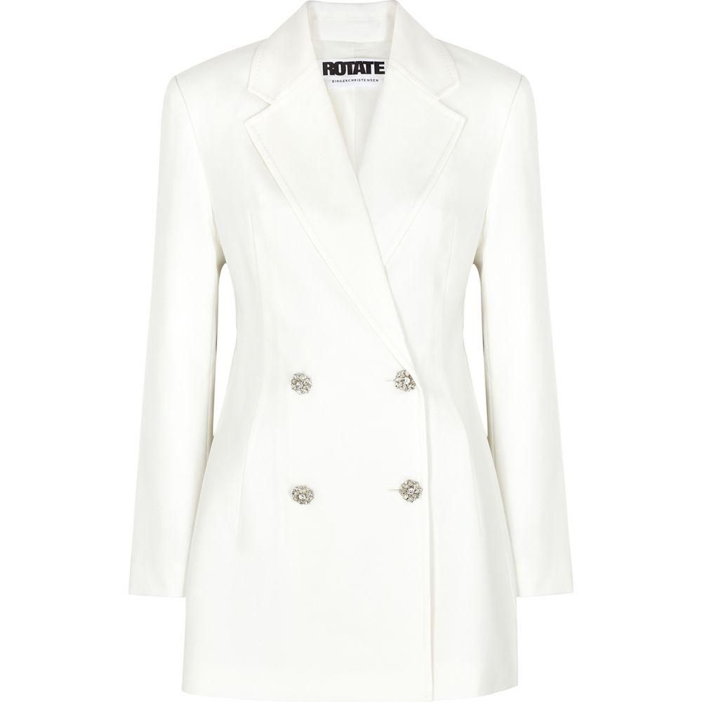 ローテート ROTATE Birger Christensen レディース スーツ・ジャケット ブレザードレス アウター【Fonda White Twill Mini Blazer Dress】White