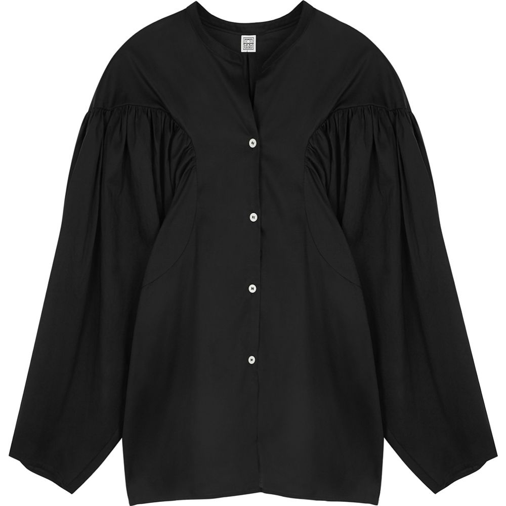 Toteme トップス【Moncton Black レディース Shirt】Black Lyocell-Blend トーテム ブラウス・シャツ