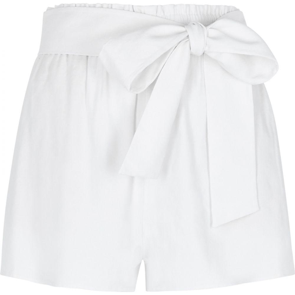 アリス アンド オリビア Alice + Olivia レディース ショートパンツ ボトムス・パンツ【Linn White Linen-Blend Shorts】White