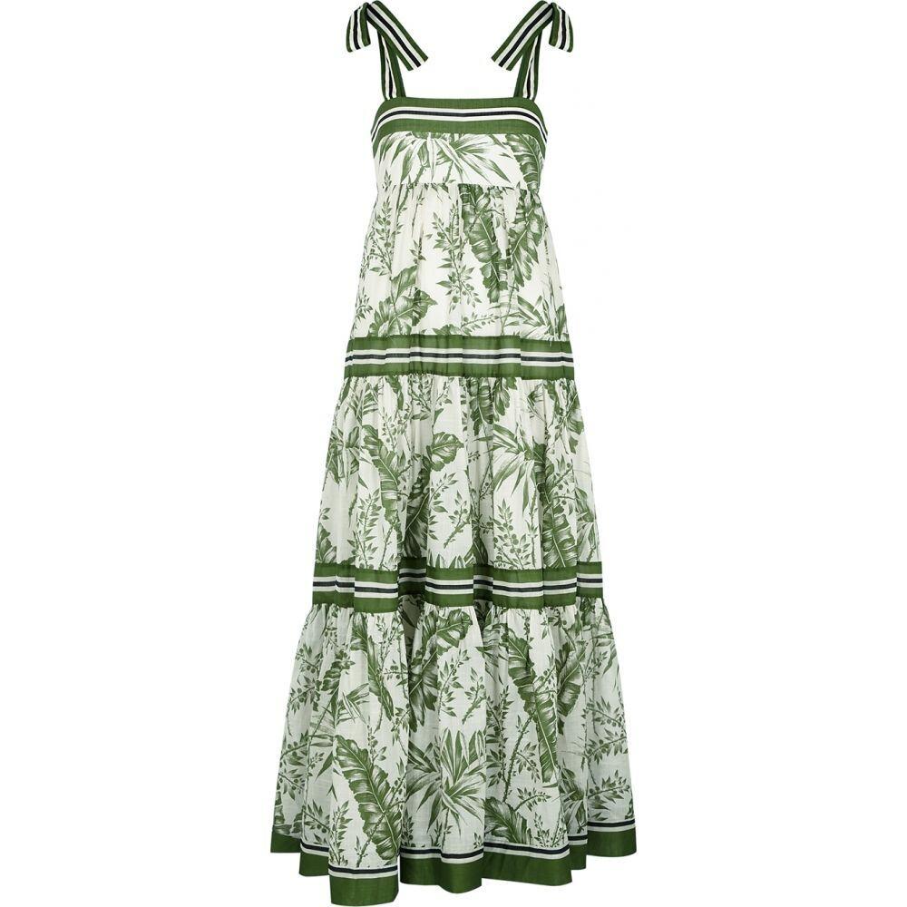 ジマーマン Zimmermann レディース ワンピース エンパイアドレス ミドル丈 ワンピース・ドレス【Empire Printed Cotton Midi Dress】Green