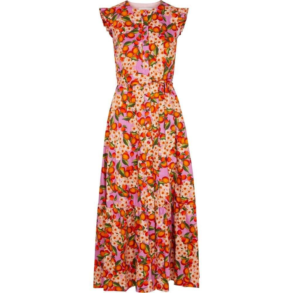ノア ド ボルゴ Borgo de Nor レディース ワンピース ワンピース・ドレス【Gabrielle Floral-Print Cotton Dress】Pink