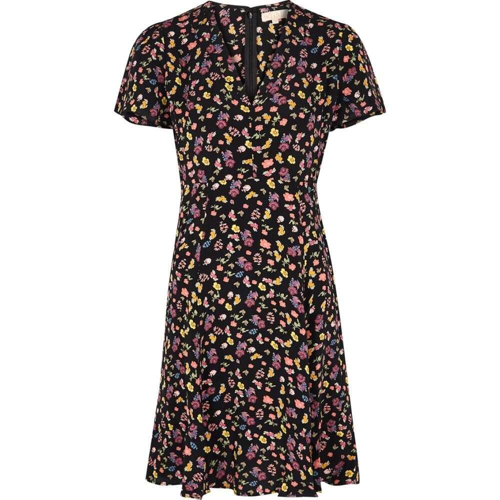 ティモ byTiMo レディース ワンピース ミニ丈 ワンピース・ドレス【Black Floral-Print Mini Dress】Multi