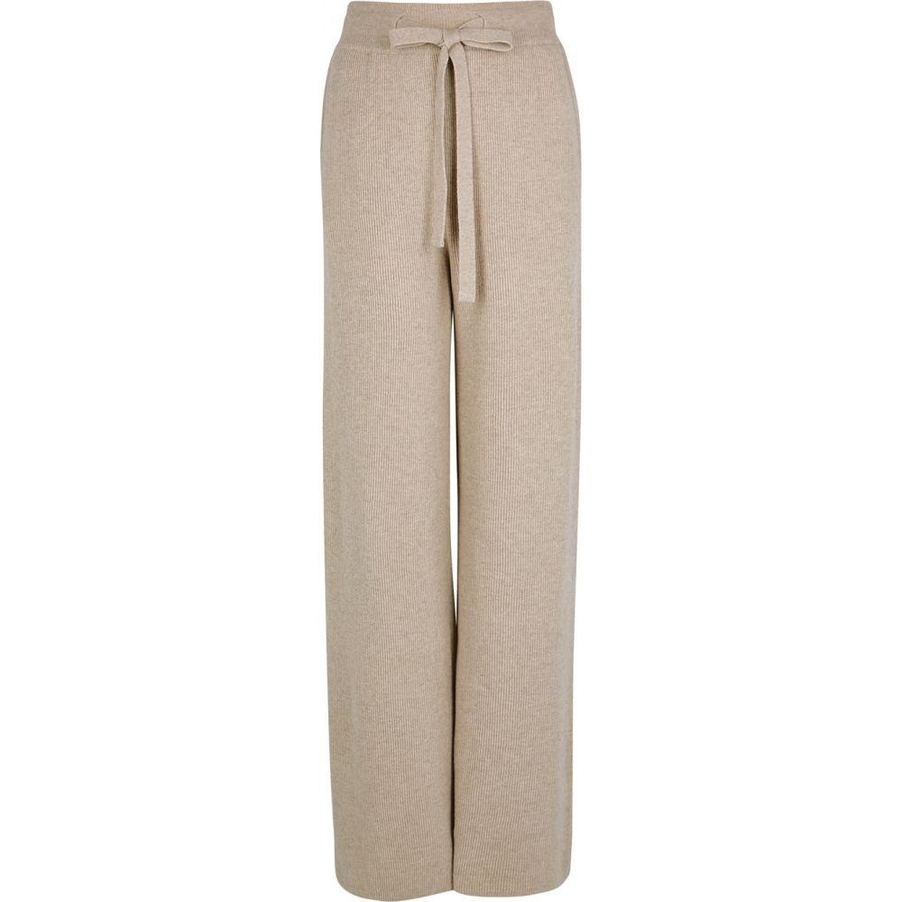 ナヌシュカ Nanushka レディース ボトムス・パンツ 【Oni Taupe Wide-Leg Ribbed-Knit Trousers】Natural
