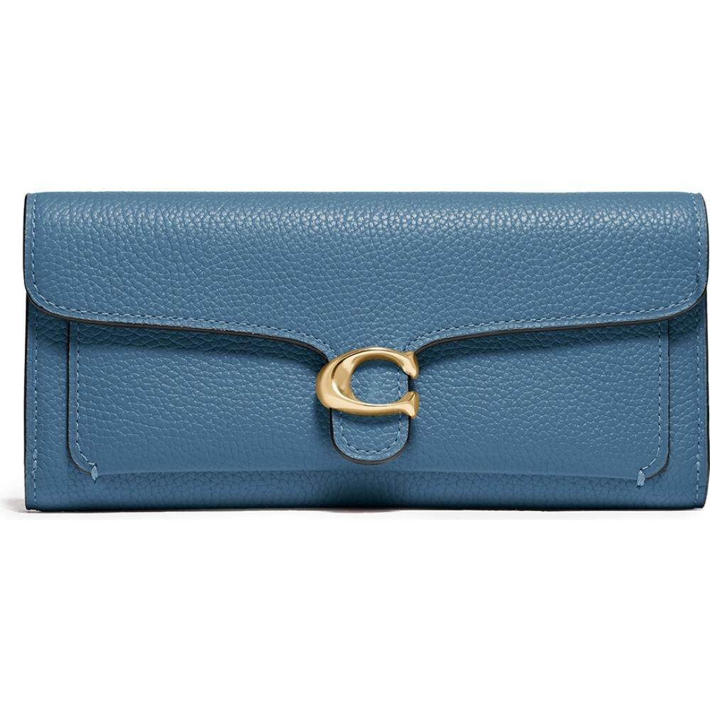 コーチ Coach レディース 財布 【Tabby Blue Leather Wallet】Blue