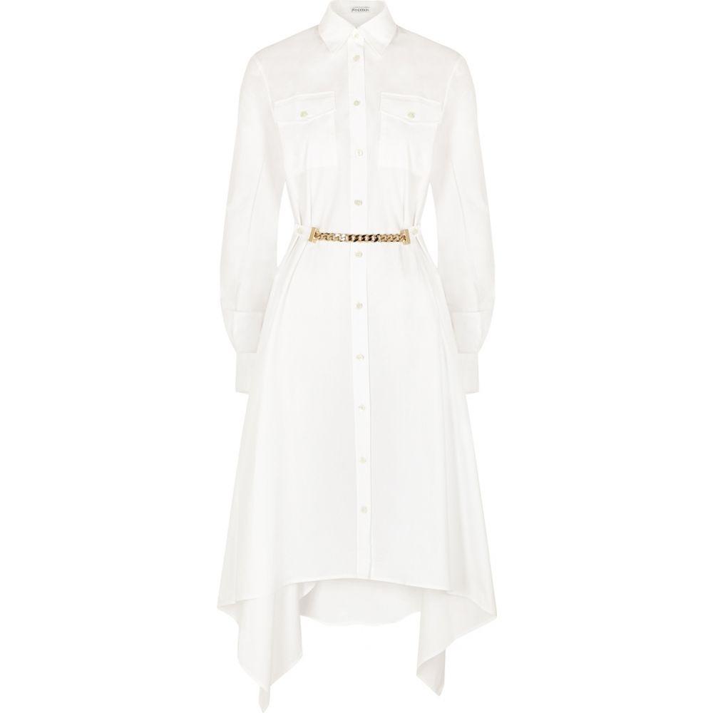 J.W.アンダーソン JW Anderson レディース ワンピース シャツワンピース ワンピース・ドレス【White Draped Cotton Shirt Dress】White
