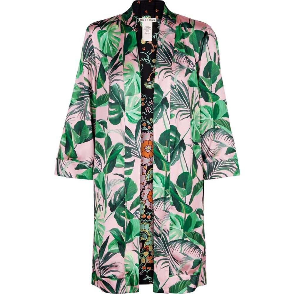 アリス アンド オリビア Alice + Olivia レディース ジャケット アウター【Lynn Printed Reversible Satin Kimono Jacket】Multi