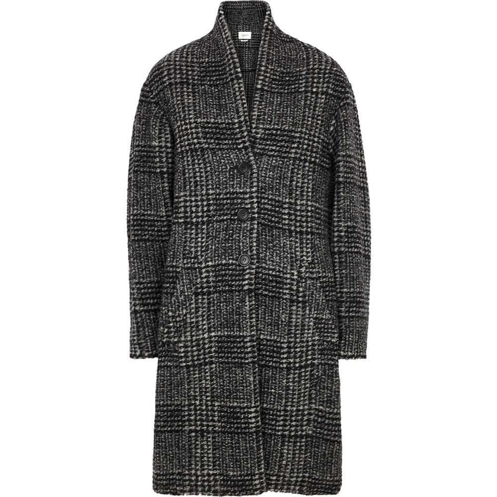 イザベル マラン Isabel Marant Etoile レディース コート アウター【Gabriel Checked Wool-Blend Coat】Black