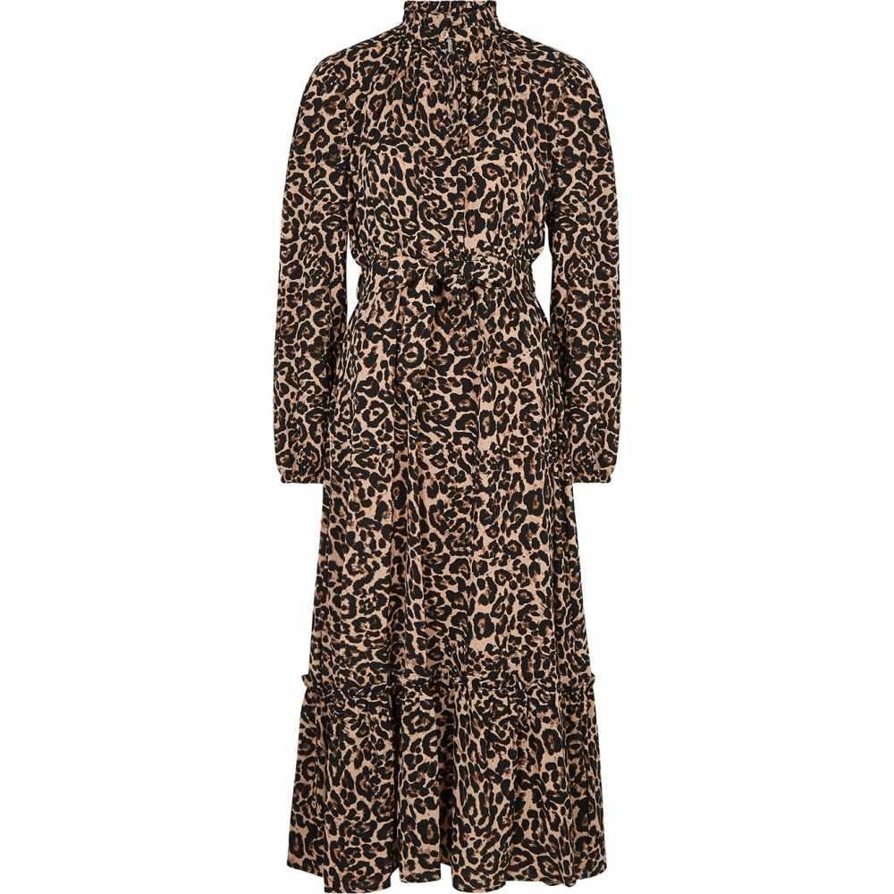 バウム ウンド ヘルガーデン Baum und Pferdgarten レディース ワンピース ミドル丈 ワンピース・ドレス【Antoinette Leopard-Print Midi Dress】Yellow