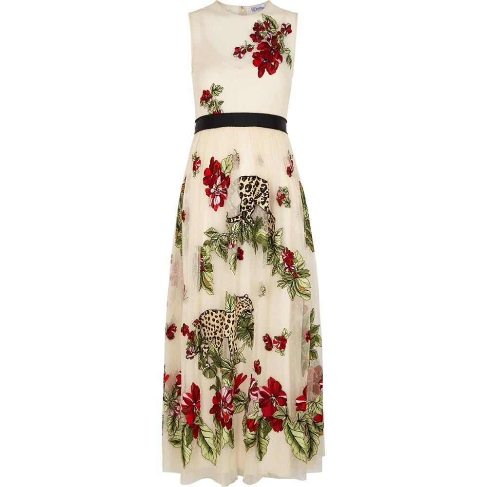 ヴァレンティノ RED Valentino レディース ワンピース ワンピース・ドレス【Ivory Embroidered Pointe D'Esprit Dress】Multi