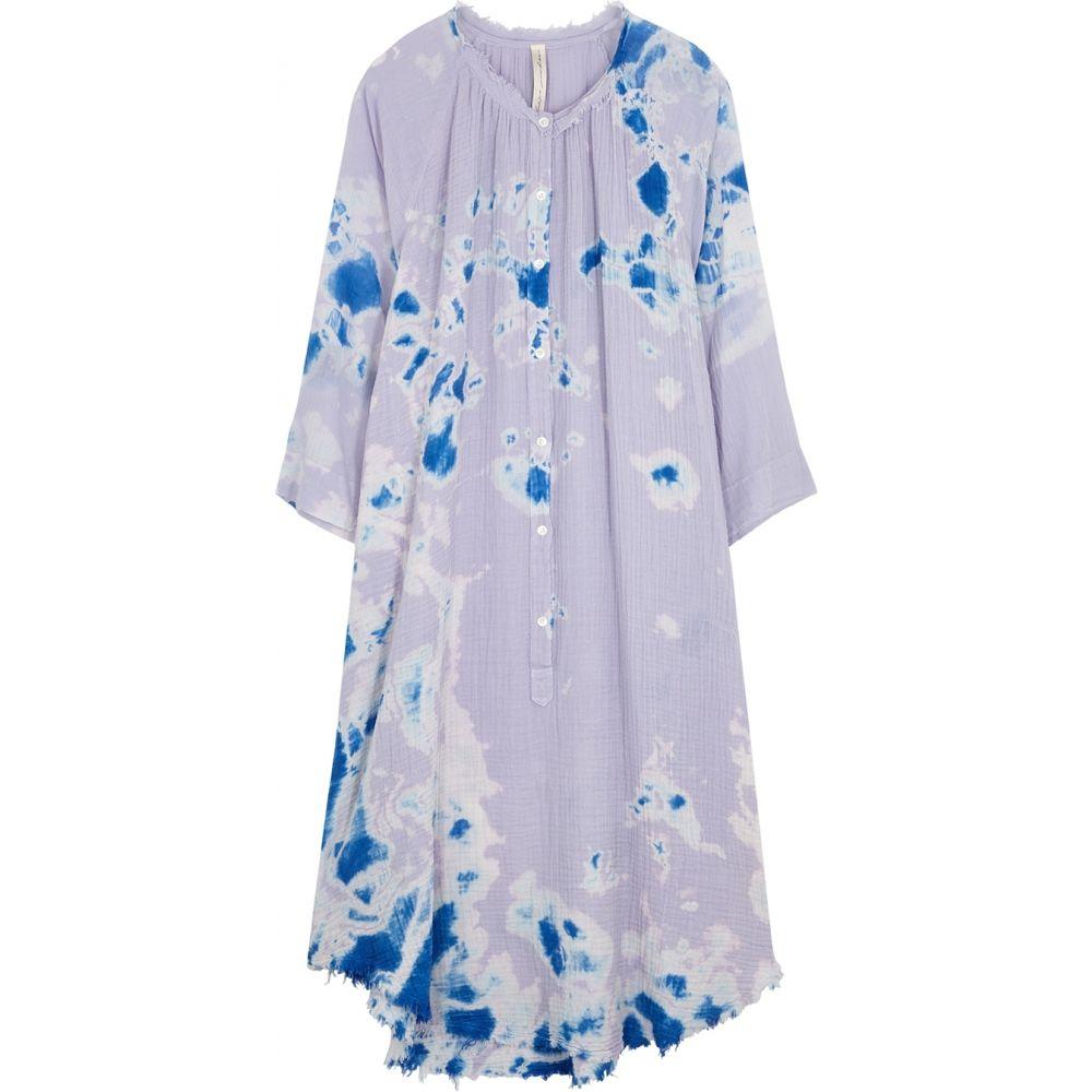 ラクエル アレグラ RAQUEL ALLEGRA レディース ワンピース ミドル丈 ワンピース・ドレス【Poet Tie-Dye Gauze Midi Dress】Purple