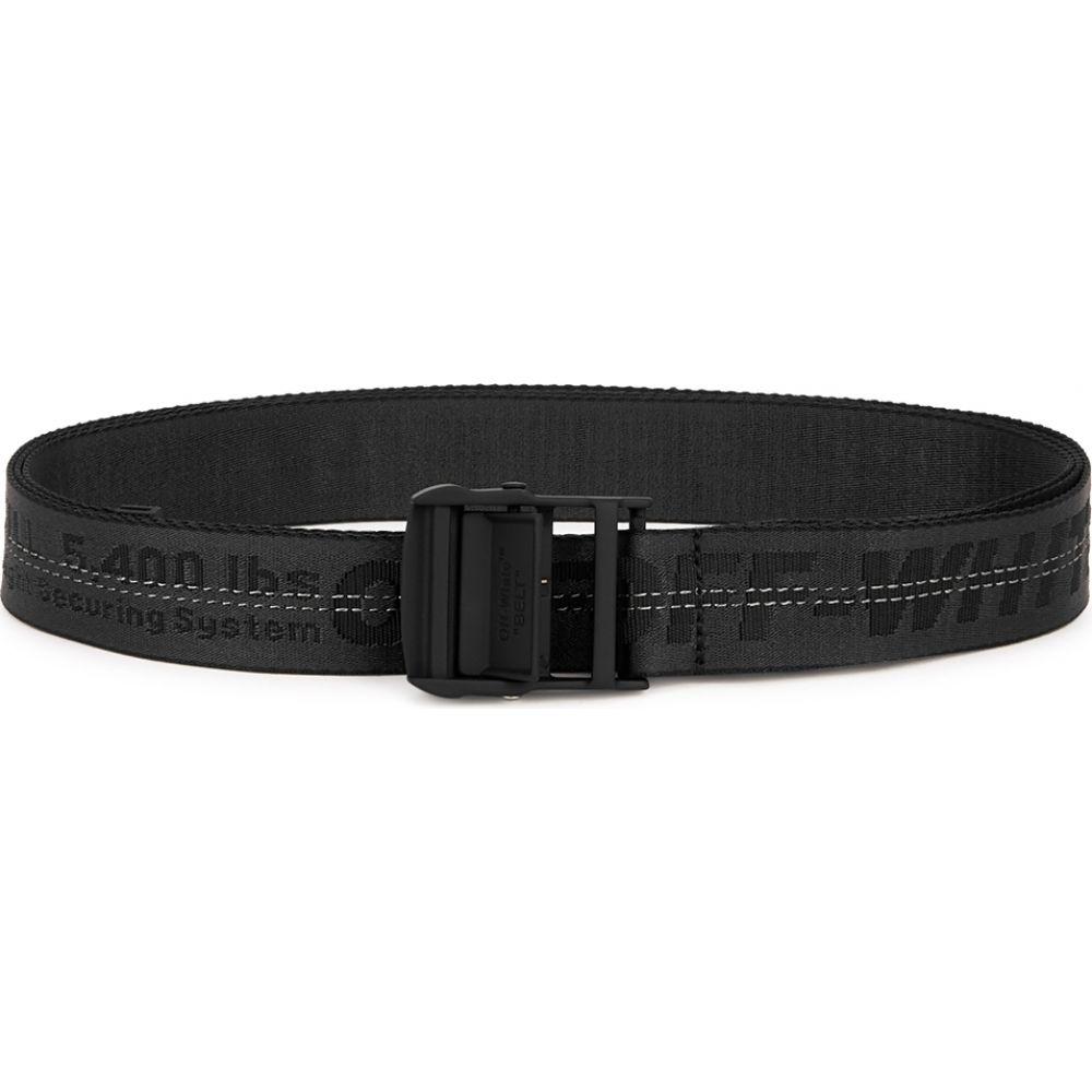 オフホワイト Off-White レディース ベルト 【Industrial Black Logo-Jacquard Canvas Belt】Black