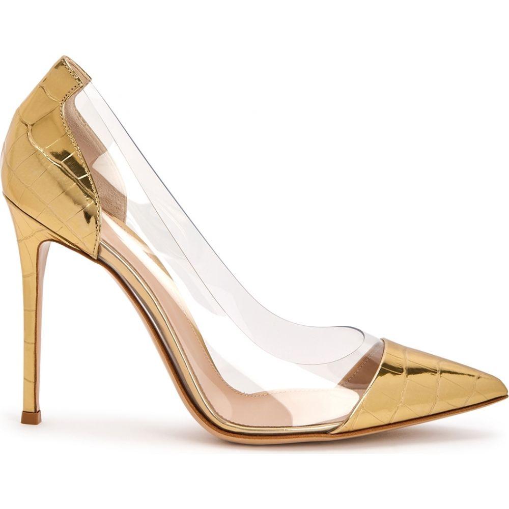 ジャンヴィト ロッシ Gianvito Rossi レディース ヒール シューズ・靴【105 Gold Leather And Perspex Pumps】Gold