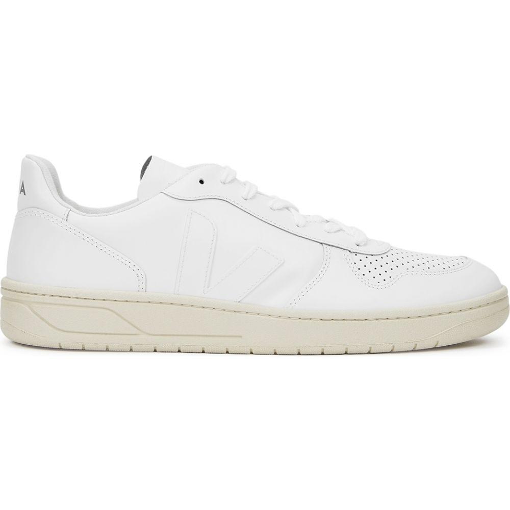ヴェジャ Veja メンズ スニーカー シューズ・靴【V10 White Leather Sneakers】White
