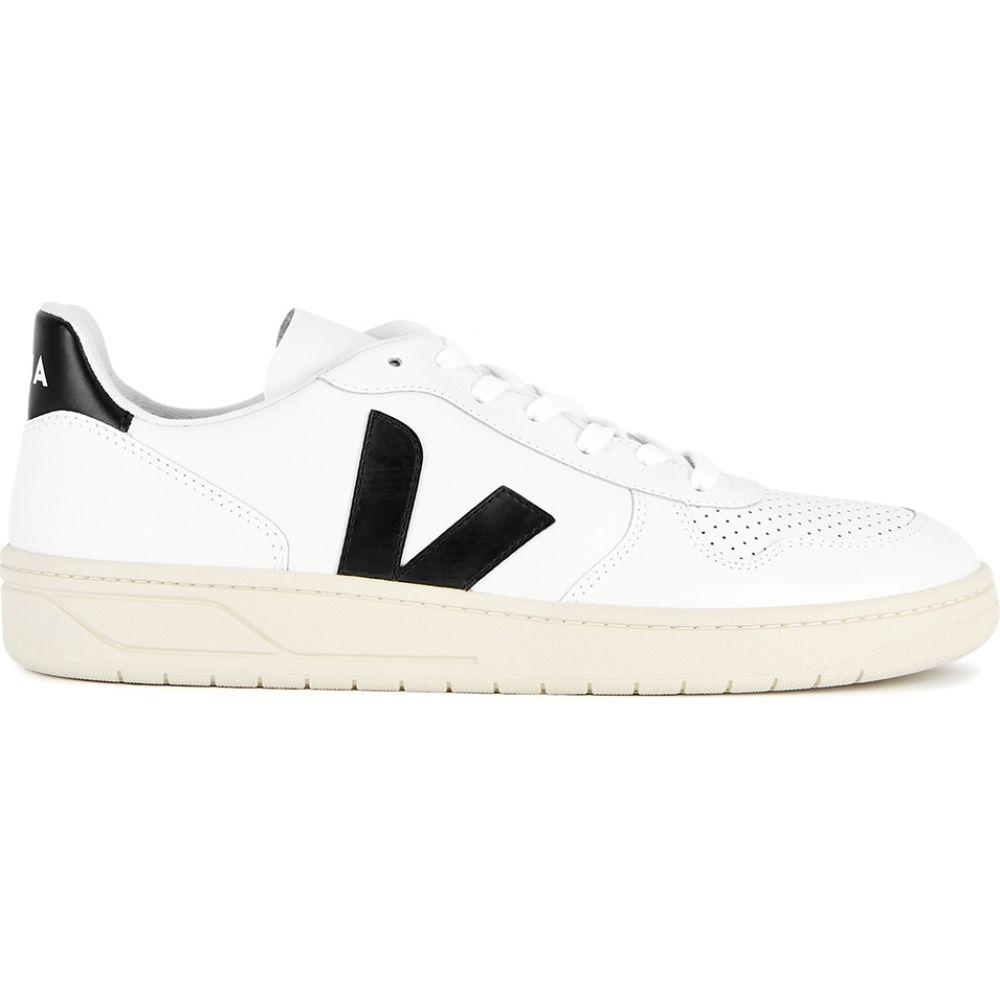 ヴェジャ Veja メンズ スニーカー シューズ・靴【V-10 White Leather Sneakers】White