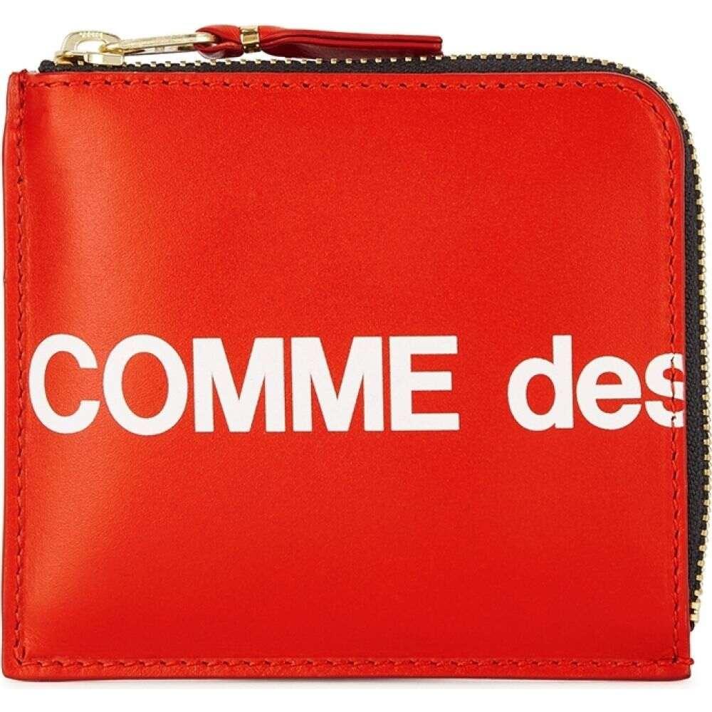 コム デ ギャルソン Comme des Garcons メンズ 財布 【Red Logo Leather Wallet】Red