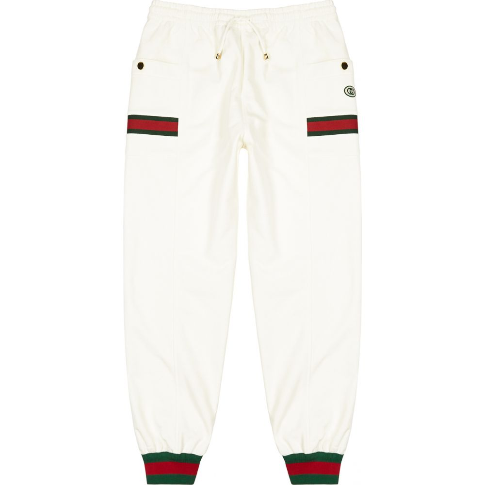 グッチ Gucci メンズ スウェット・ジャージ ボトムス・パンツ【Ivory Cotton Sweatpants】Natural