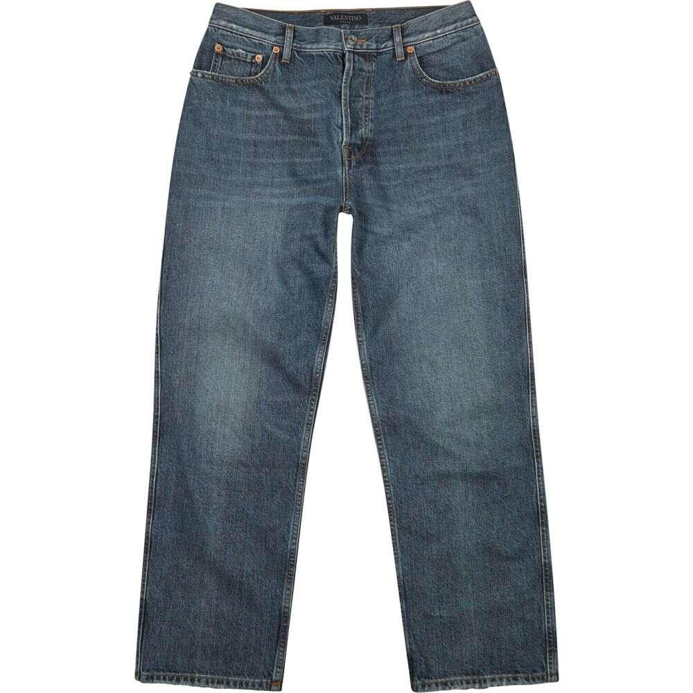 ヴァレンティノ Valentino メンズ ジーンズ・デニム ボトムス・パンツ【Vlogo Blue Tapered Jeans】Blue