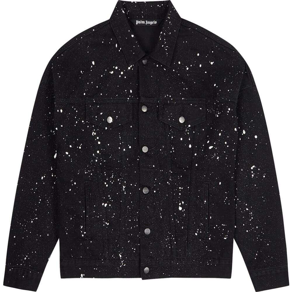 パーム エンジェルス Palm Angels メンズ ジャケット Gジャン アウター【Black Cactus-Print Denim Jacket】Black