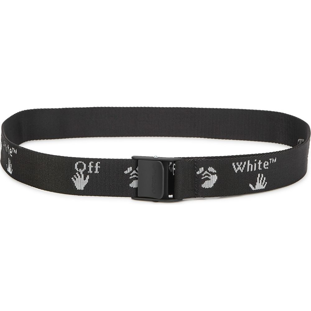 オフホワイト Off-White メンズ ベルト 【Black Logo-Jacquard Canvas Belt】Black