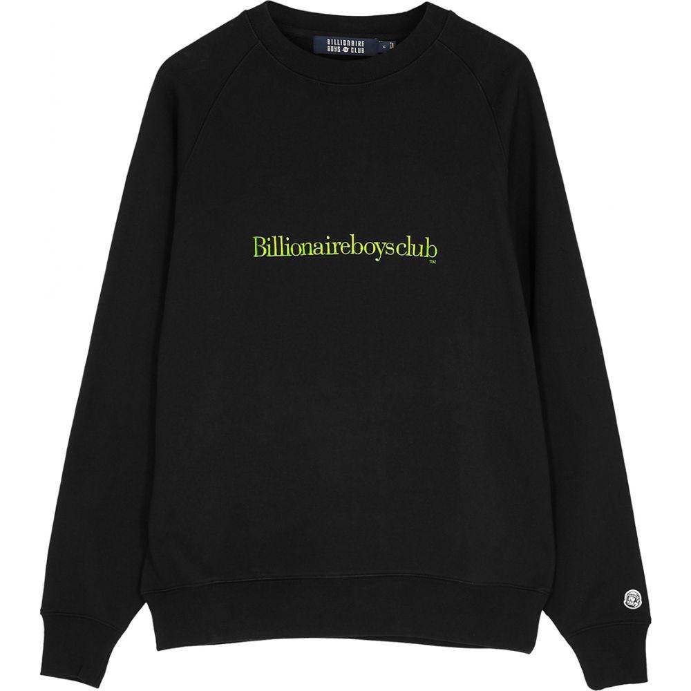 ビリオネアボーイズクラブ Billionaire Boys Club メンズ スウェット・トレーナー トップス【Black Logo-Embroidered Cotton Sweatshirt】Black