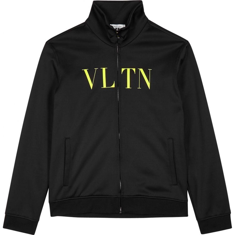 ヴァレンティノ Valentino メンズ ジャージ アウター【Vltn Black Satin-Jersey Track Jacket】Black