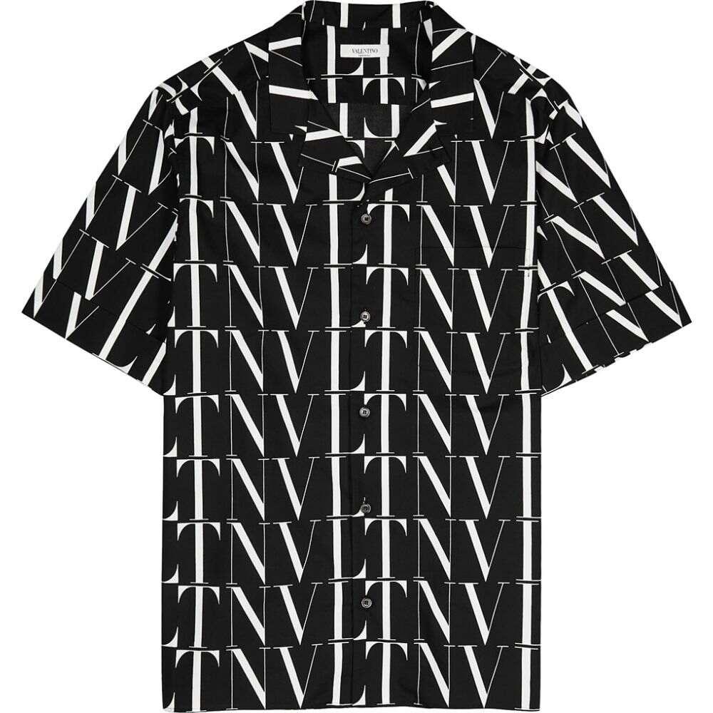 ヴァレンティノ Valentino メンズ シャツ トップス【Vltn Times Printed Cotton Shirt】Black