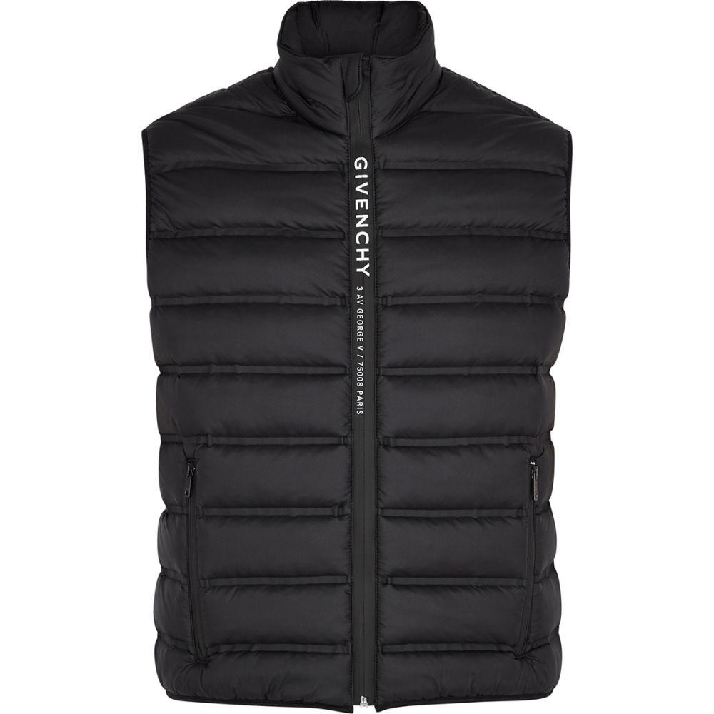 ジバンシー Givenchy メンズ ベスト・ジレ トップス【Black Quilted Shell Gilet】Black