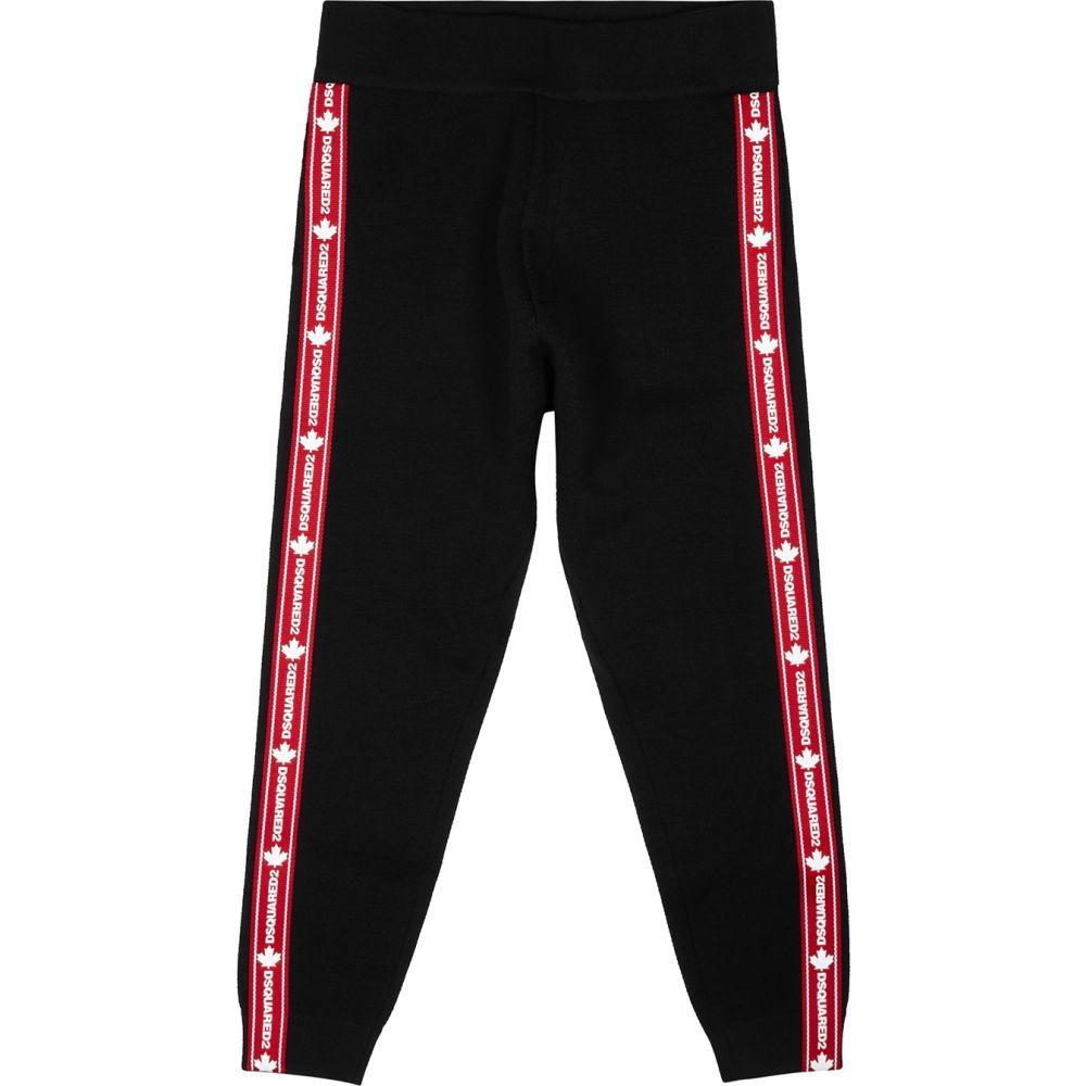 ディースクエアード Dsquared2 メンズ スウェット・ジャージ ボトムス・パンツ【Black Logo Stretch-Wool Sweatpants】Black