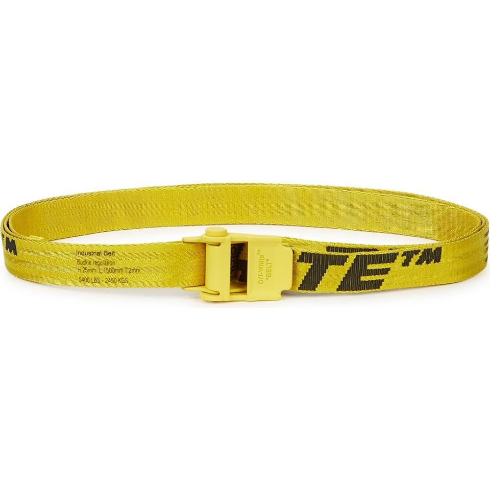 オフホワイト Off-White メンズ ベルト 【Industrial 2.0 Mini Logo-Jacquard Belt】Yellow