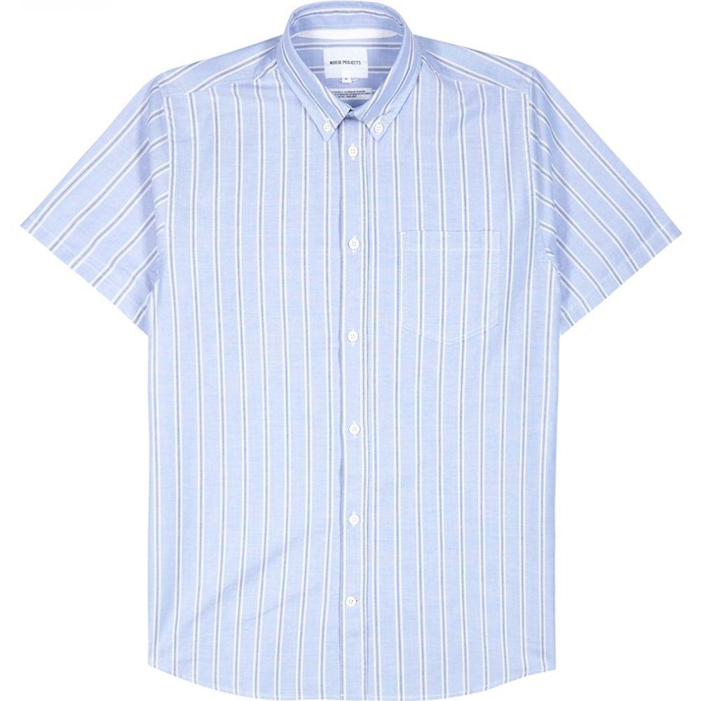 ノースプロジェクト Norse Projects メンズ シャツ トップス【Theo Blue Striped Cotton Shirt】Blue