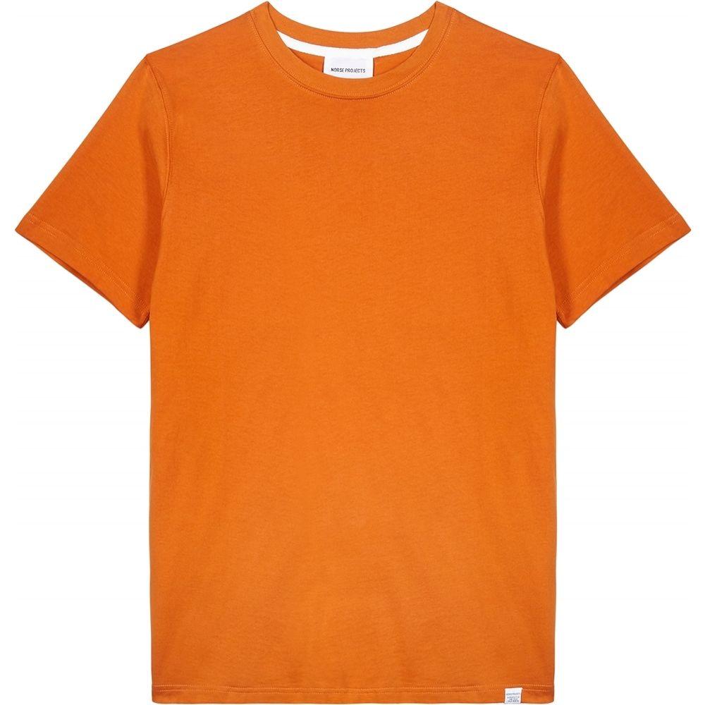 ノースプロジェクト Norse Projects メンズ Tシャツ トップス【Niels Orange Cotton T-Shirt】Orange