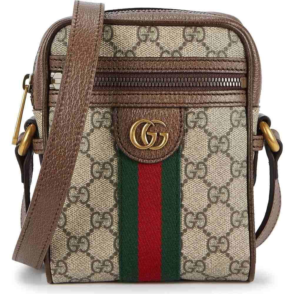 グッチ Gucci メンズ ショルダーバッグ バッグ【Ophidia Gg Monogrammed Cross-Body Bag】Natural