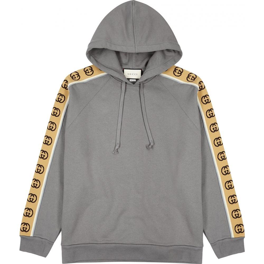 グッチ Gucci メンズ スウェット・トレーナー トップス【Grey Gg-Striped Cotton Sweatshirt】Grey