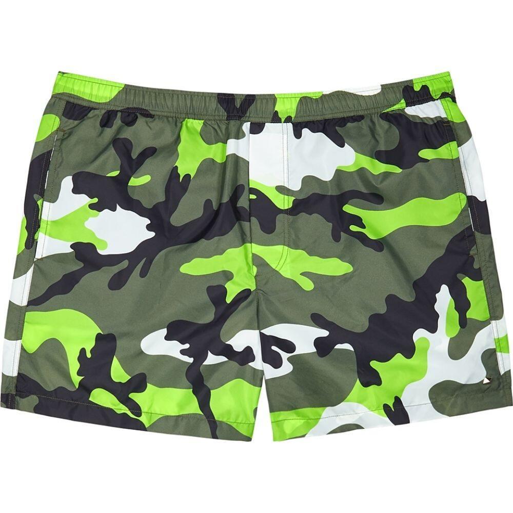 ヴァレンティノ Valentino メンズ 海パン ショートパンツ 水着・ビーチウェア【Camouflage-Print Shell Swim Shorts】Green