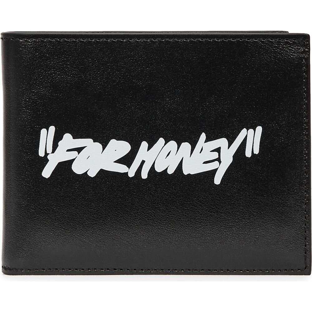 オフホワイト Off-White メンズ 財布 【Black Printed Leather Wallet】Black