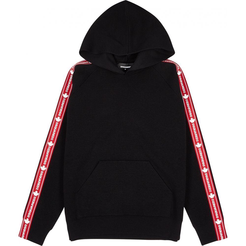 ディースクエアード Dsquared2 メンズ パーカー トップス【Black Hooded Stretch-Wool Jumper】Black