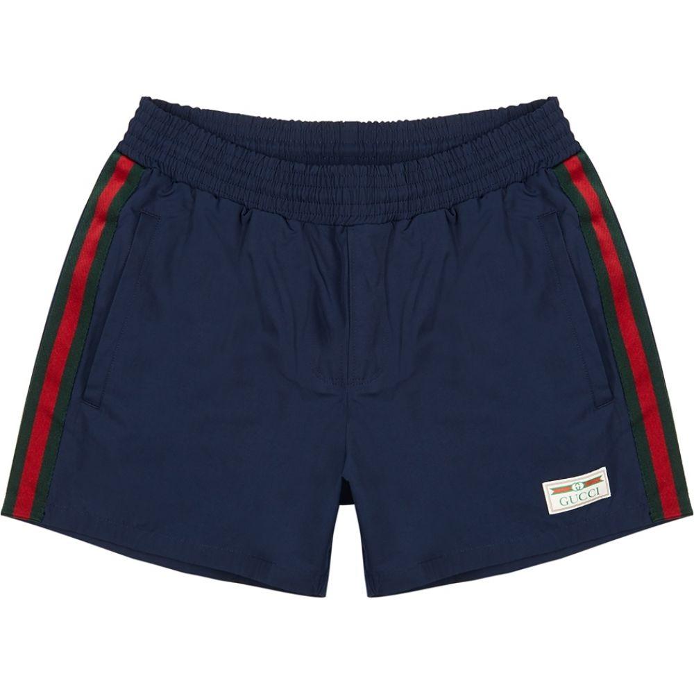 グッチ Gucci メンズ 海パン ショートパンツ 水着・ビーチウェア【Navy Shell Swim Shorts】Blue