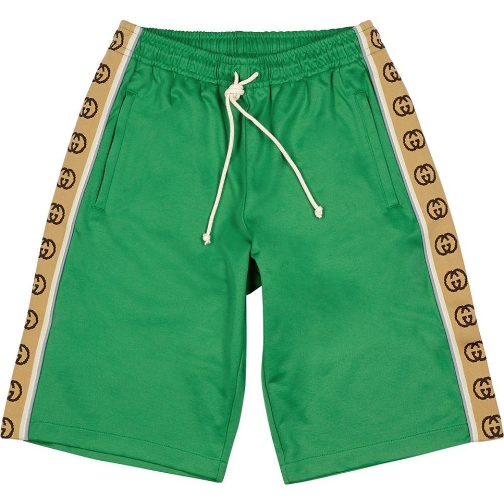 グッチ Gucci メンズ ショートパンツ ボトムス・パンツ【Gg Green Jersey Shorts】Green