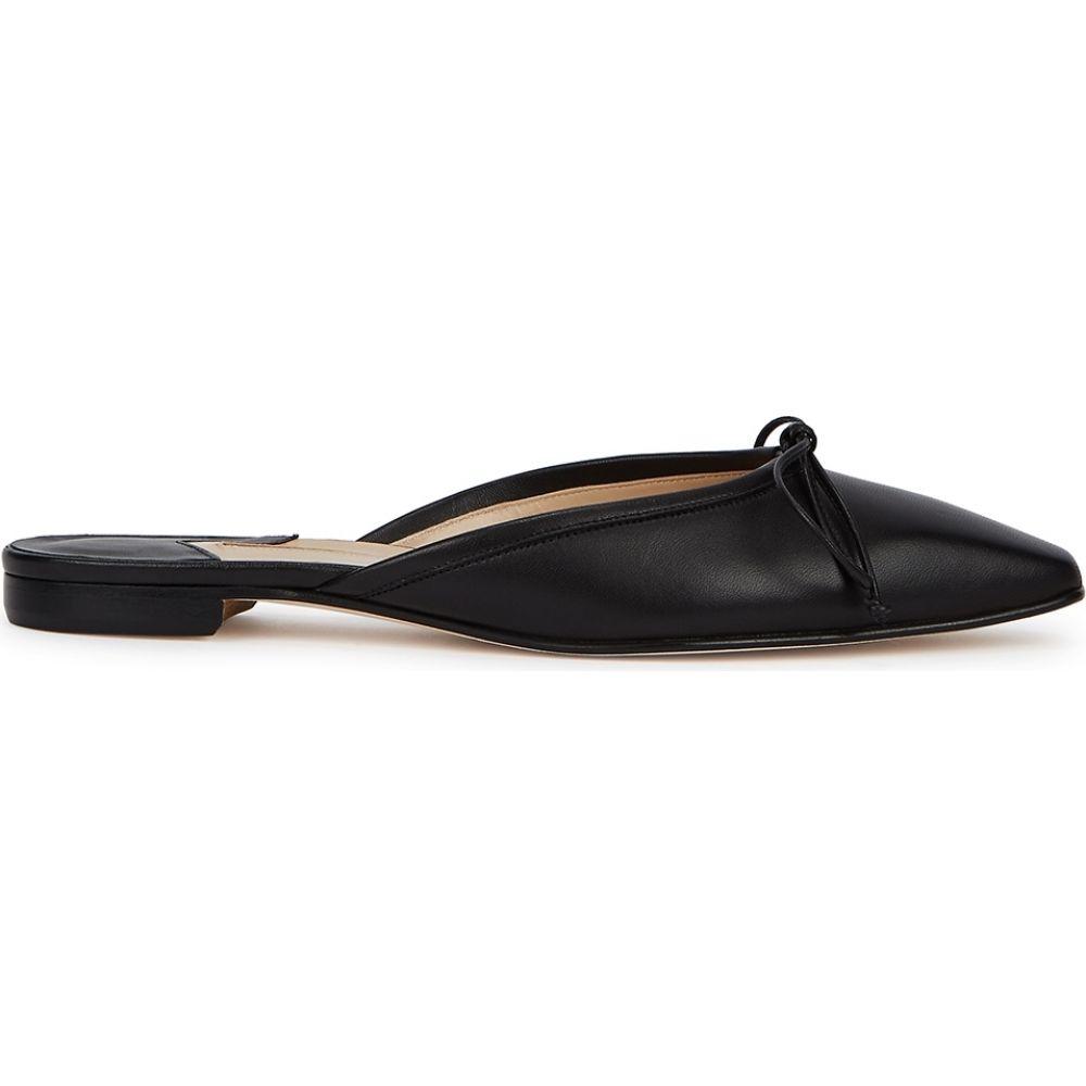 マノロブラニク Manolo Blahnik レディース サンダル・ミュール シューズ・靴【Ballerimu Black Leather Mules】Black