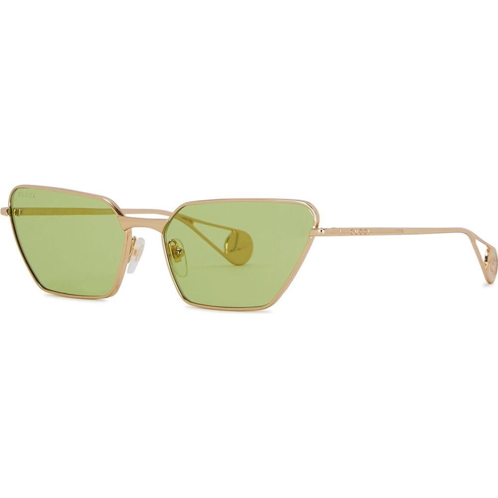 グッチ Gucci レディース メガネ・サングラス キャットアイ【Green Cat-Eye Sunglasses】Green