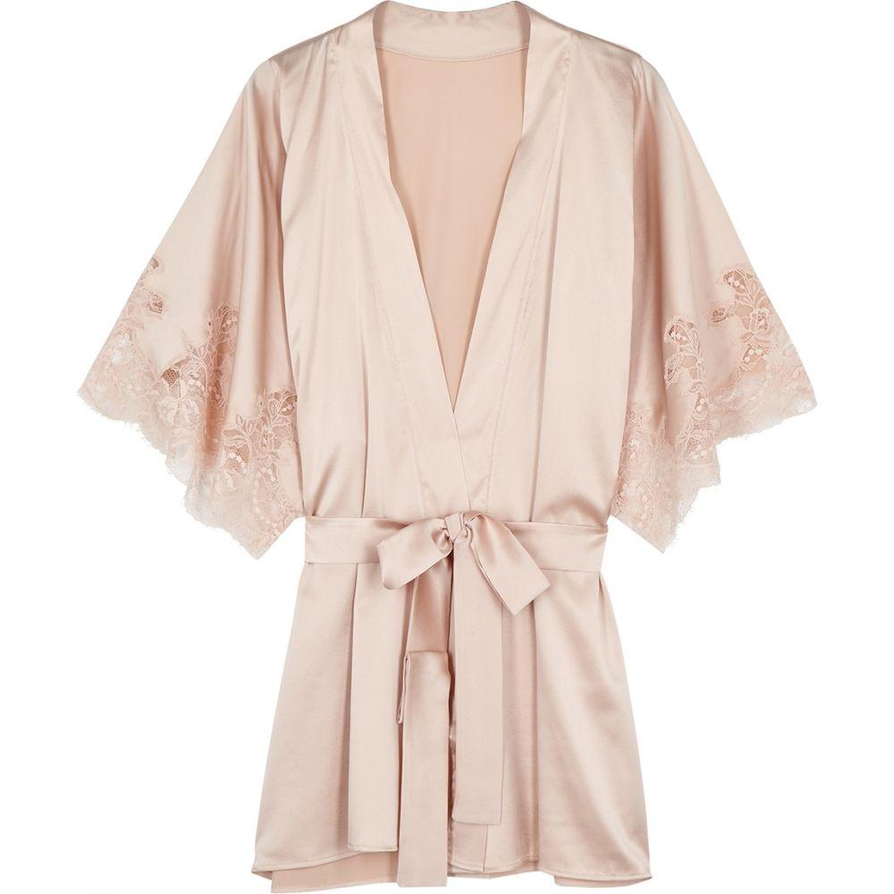 フルール オブ イングランド Fleur Of England レディース ガウン・バスローブ インナー・下着【Signature Blush Silk-Blend Robe】Nude