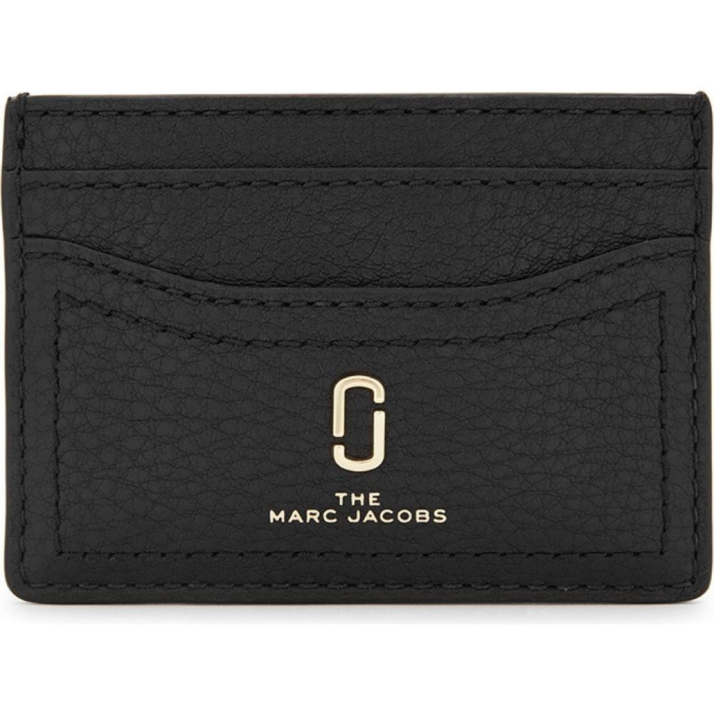 マーク ジェイコブス Marc Jacobs レディース カードケース・名刺入れ カードホルダー【Softshot Black Leather Card Holder】Black